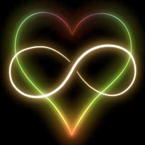 Neon Infinity sign in Heart
